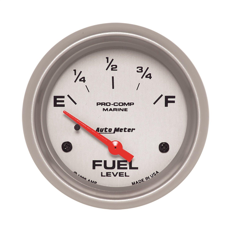 AutoMeter 200761-33 Marine Electric Fuel Level Gauge 2-5//8 in.