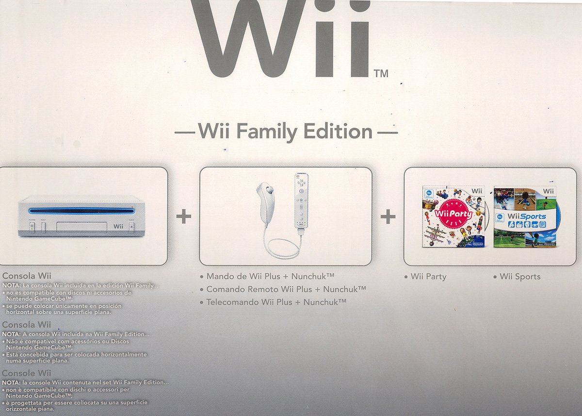 Nintendo Wii - Console Wii Family Edition, Bianca + Wii ...