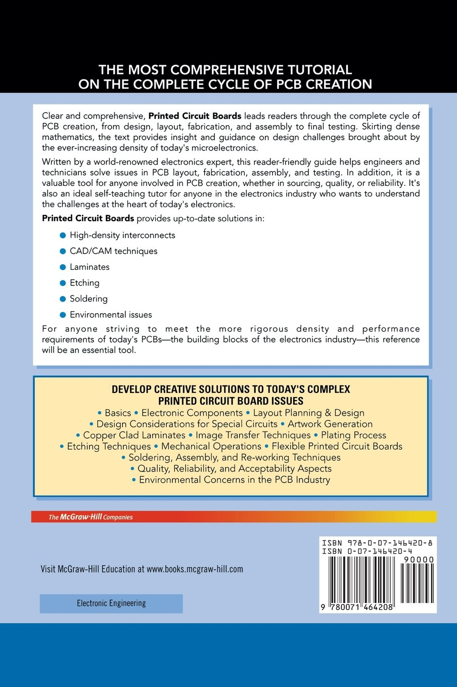 Buy Printed Circuit Boards Design Fabrication And Assembly Making A Board Website Layout In Photoshop Page 1 Of 4 Mcgraw Hill Electronic Engineering Book Online At Low Prices India