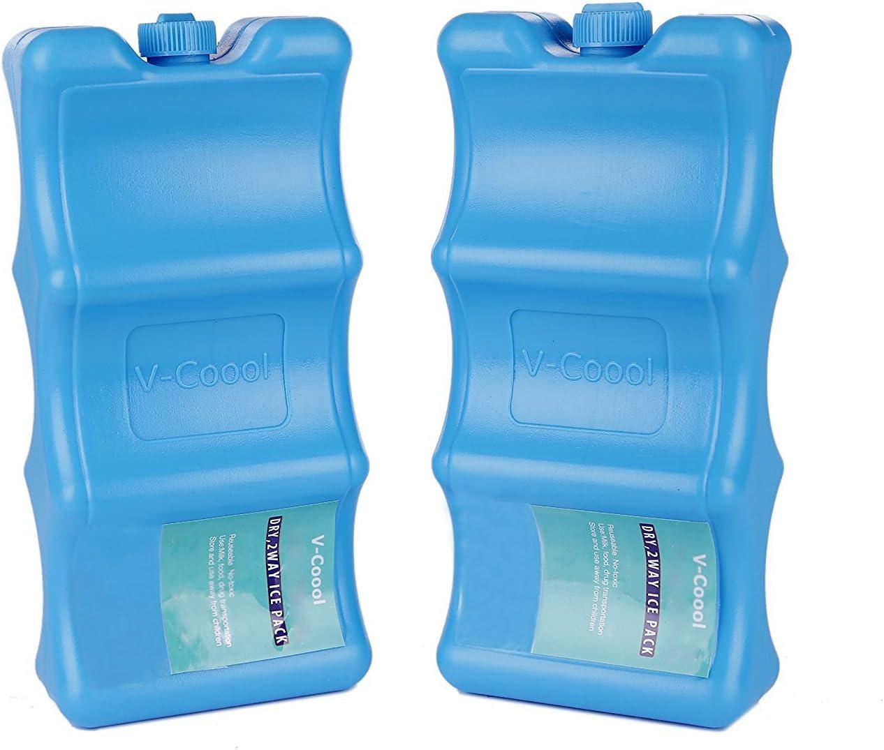 Paquete de 2 paquetes de hielo con forma contorneada, mantiene la ...