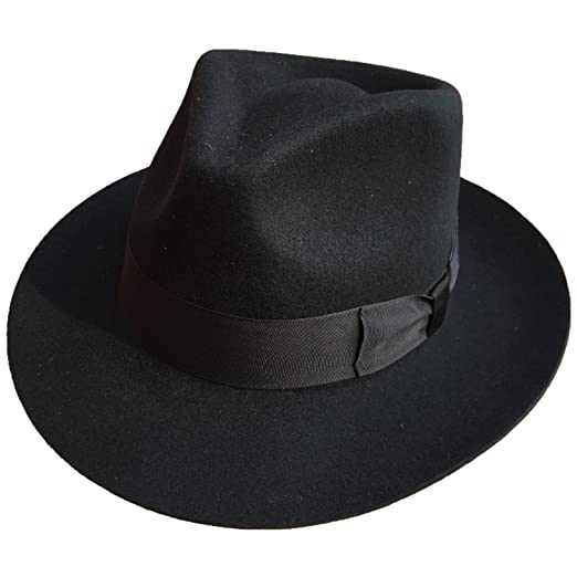 b840aae6a47 Wool Felt Gentleman Gangster Godfather Fedora Hat- MANY COLORS at ...