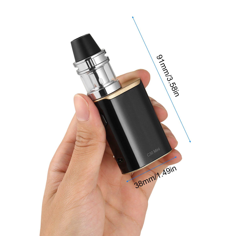 C30 Mini Kit 30W de Iniciación Cigarrillo Electrónico,1500mAh Batería Recargable + 0.3ohm 2.0ML Atomizador,Kirsite Shell Resin Nozzle Arc Diseño,Sin ...