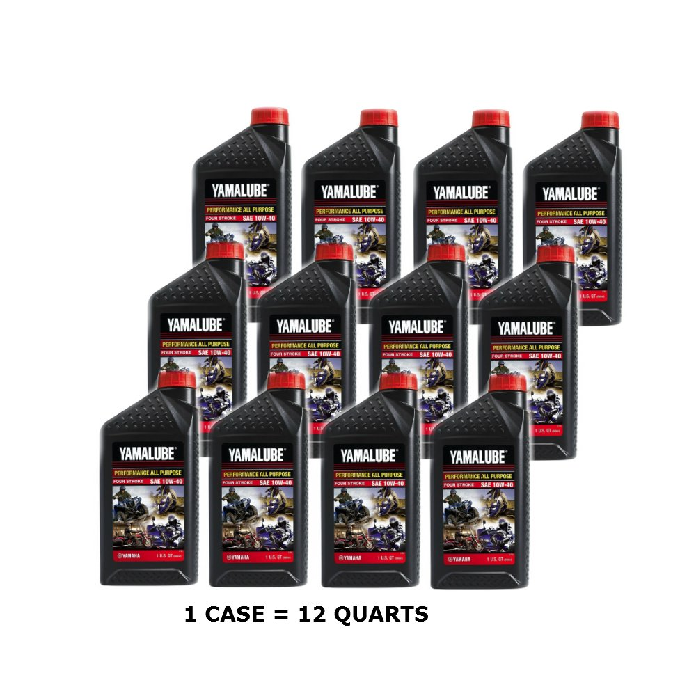 Yamalube 10w40 All Performance Oil - Quarts (Case of 12) by Yamalube