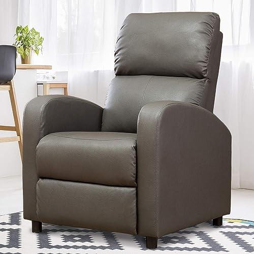 Editors' Choice: BELARDO home Recliner Chair,Modern Reclining Sofa Pushback Manual Recliner Heavy Duty Single Sofa