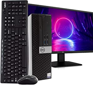 "Dell OptiPlex 3040 PC Desktop Computer, Intel i5-6500 3.2GHz, 16GB RAM, 2TB HDD, Windows 10 Pro, New 23.6"" FHD LED Monitor, Wireless Keyboard & Mouse, New 16GB Flash Drive, DVD, WiFi, HDMI (Renewed)"