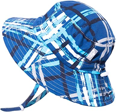 Toddler Jan /& Jul Boys 50+UPF Breathable Cotton Sun-Hat with Adjustable Chin-Strap for Baby