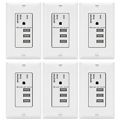 Amazon.com: TOPGREENER TU11558A3 - Cargador USB (3 puertos ...