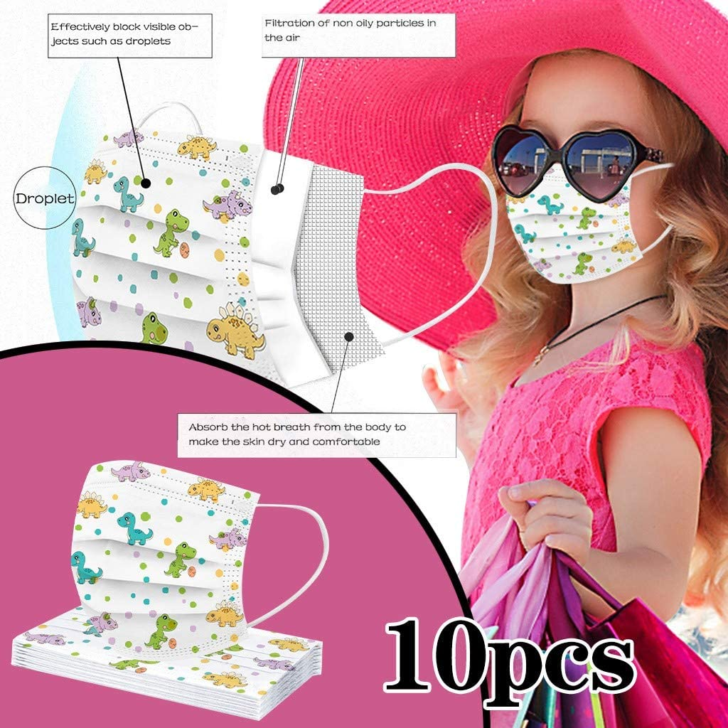 10//20//50//100Pc Kids Cute Cartoon Disposable Face Covering Elastic Ear Loops Effective Protectin ChildrenS Health Globally