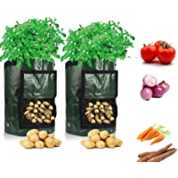 Plant Grow Bags, (2-Pack) 7 Gallon Planter Bag,