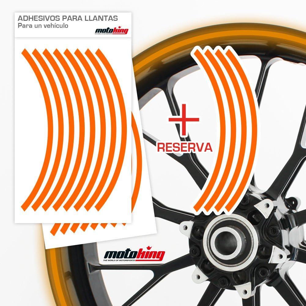 Colores Reflectantes//Rueda Completa//Desde 15 hasta 18//Color y Ancho Opcionales Motoking Adhesivos Llantas 360 /°