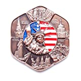 Circle New York Souvenir Metal Fridge NY Magnet