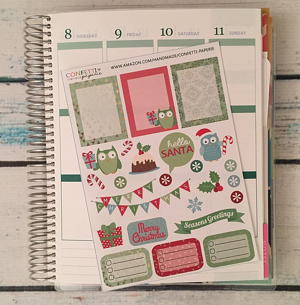 Amazon.com: Christmas Planner Stickers, Erin Condren Life ...