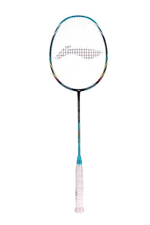 Li Ning 109 Sonic Carbon Fiber Badminton Racquet, Size S2  Blue  Racquets
