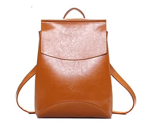 665d47140071 DI GRAZIA Women s Leather Brown Convertible Backpack  Amazon.in  Shoes    Handbags