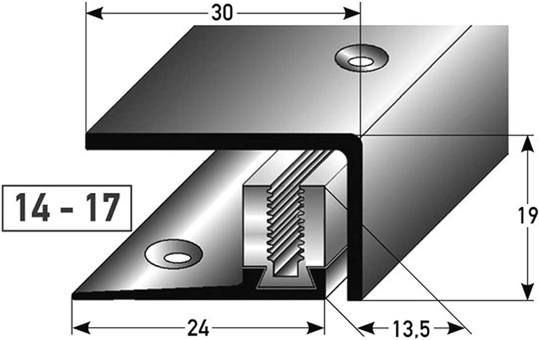 gebohrt * Robust * Leichte Montage 90cm Wand-Abschlussleiste f/ür Laminat /& Parkett acerto 35966 Edelstahl Abschlussprofil 3- teilig Aluprofil als professionelles Wandanschlussprofil 14-17 mm
