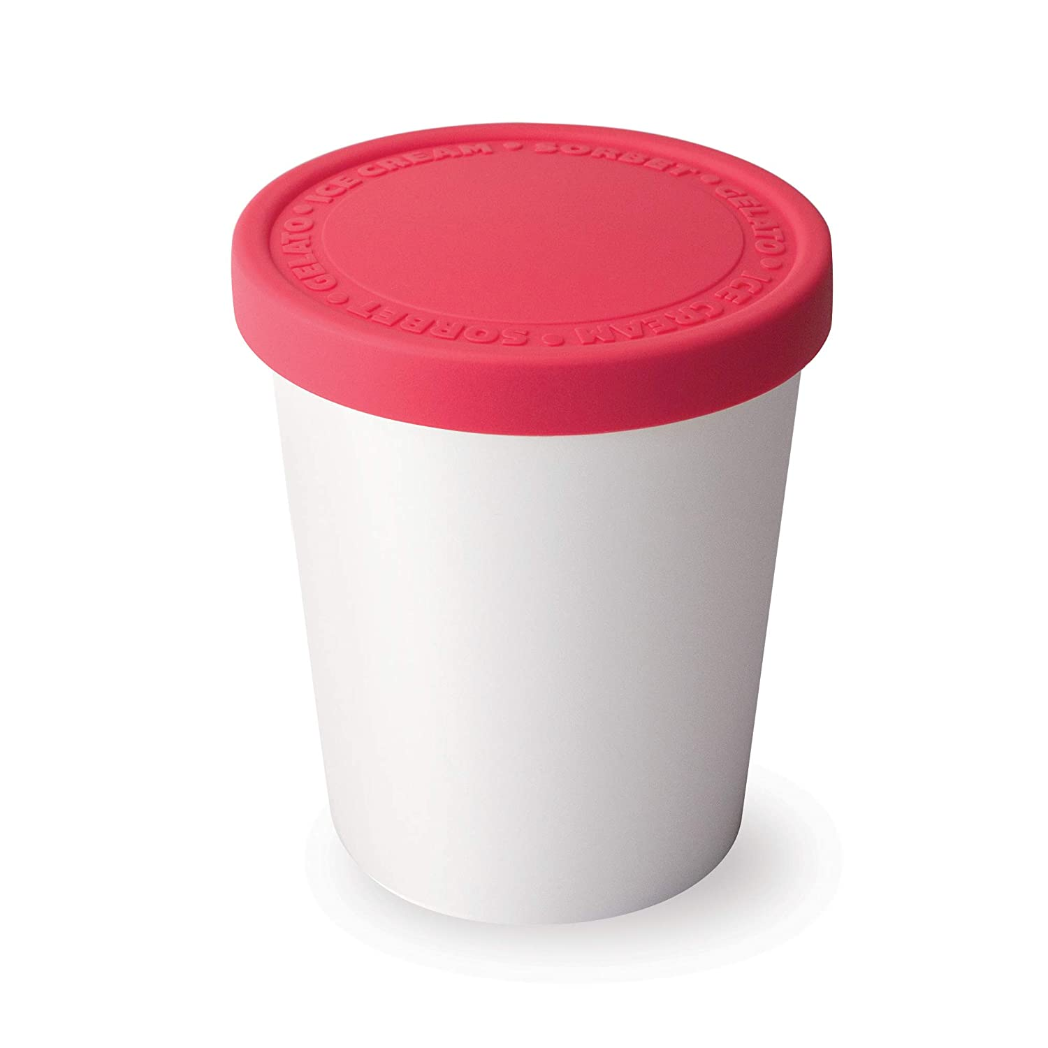 Tovolo Tight-Fitting, Stack-Friendly, Sweet Treat Ice Cream Tub - Raspberry