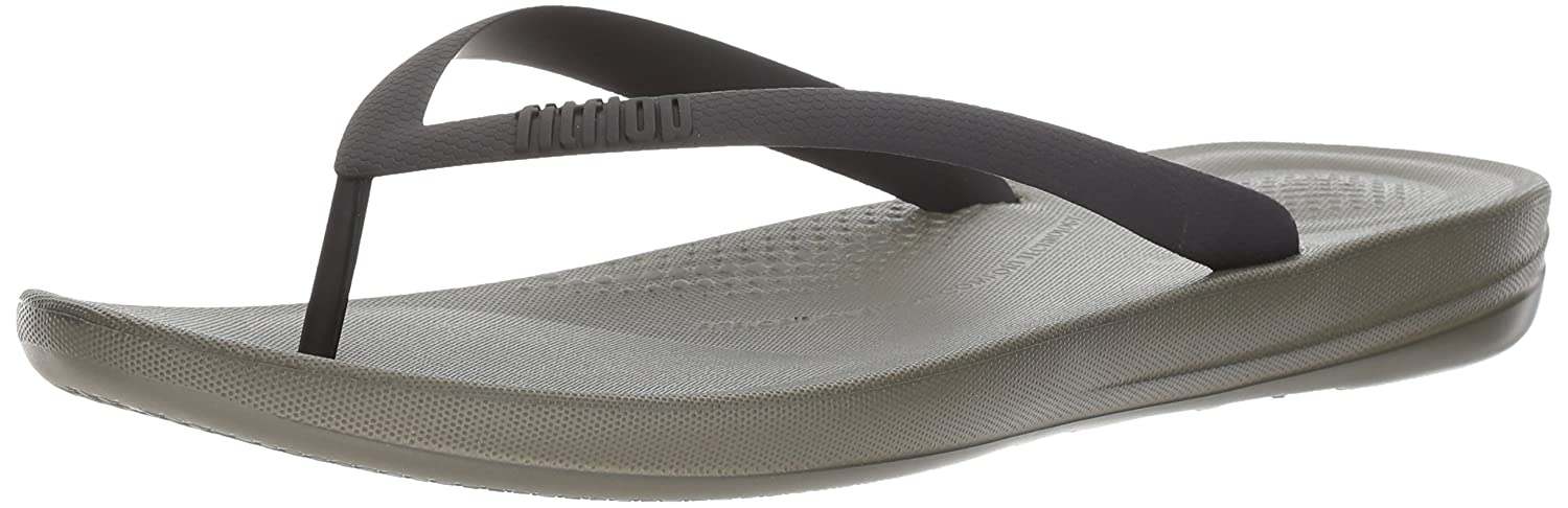 FitFlop Mens iQushion Ergonomic Flip-Flops 8 UK|Camouflage Green Mix