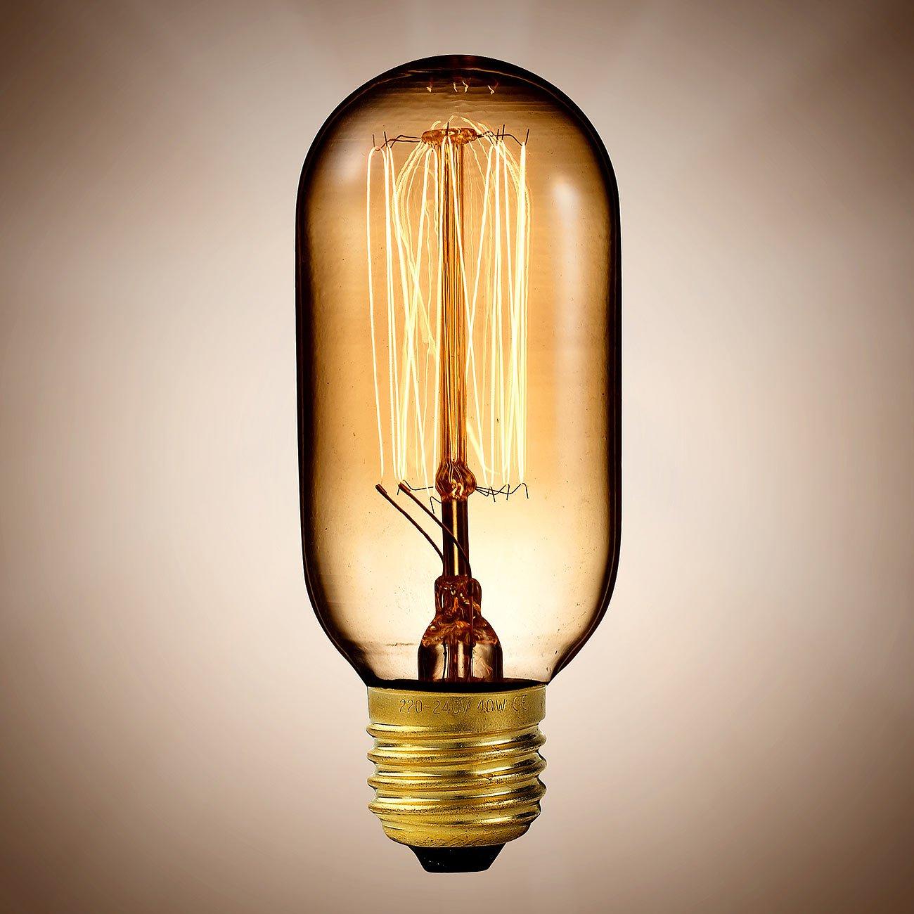 Luminea Glühbirne Draht sichtbar: Vintage-Schmucklampe, Tubular ...