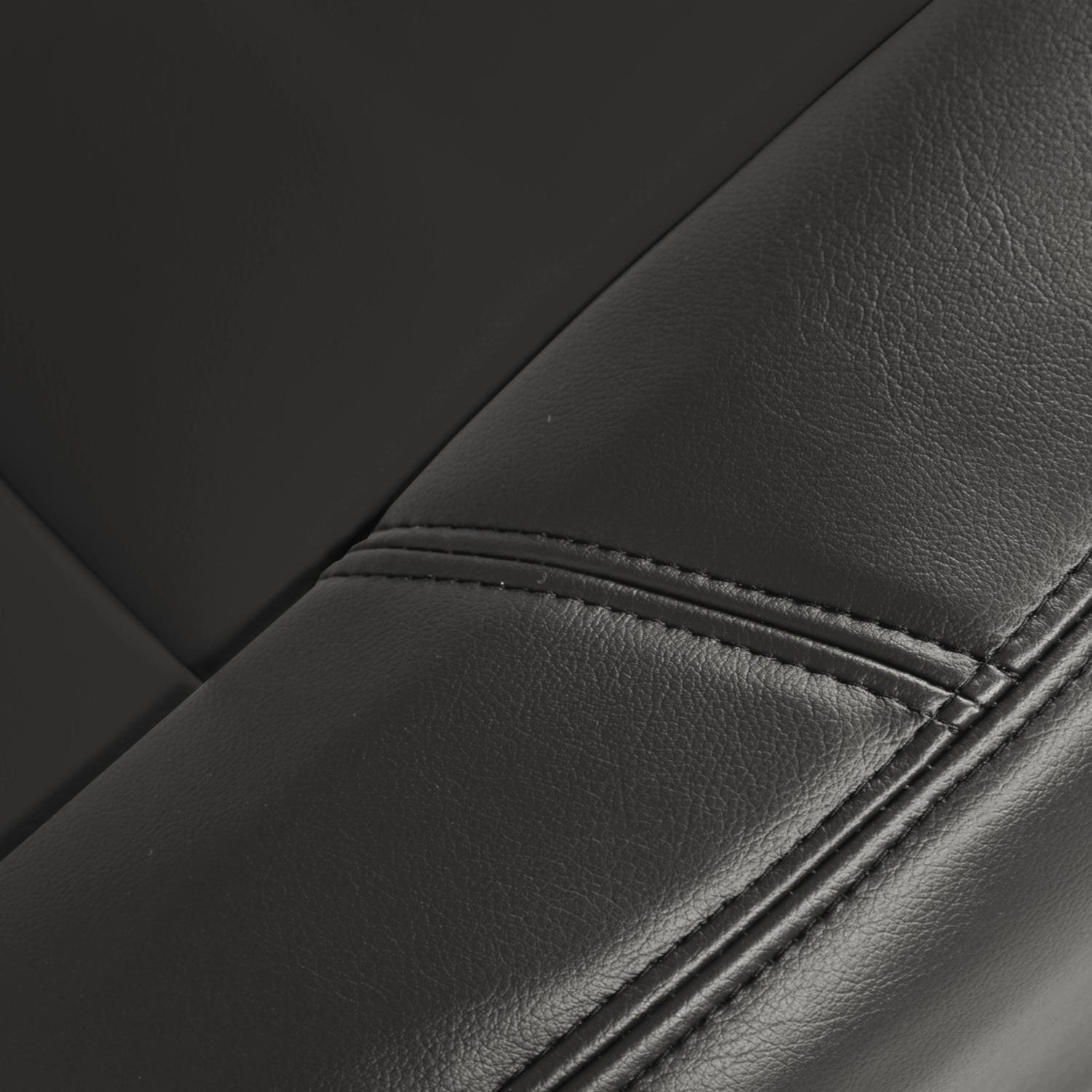 Medium Gray Coverking Custom Fit Front 50//50 Bucket Seat Cover for Select Toyota Sequoia Models Premium Leatherette Solid
