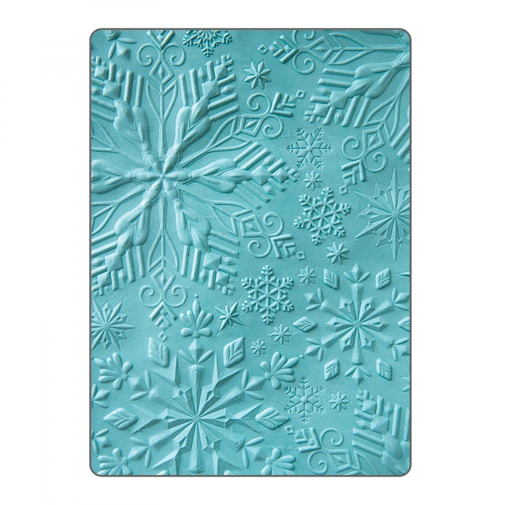 Sizzix Textured Impressions Embossing Folder-Katelyn Lizardi-Winter Snowflakes (12 Pack)