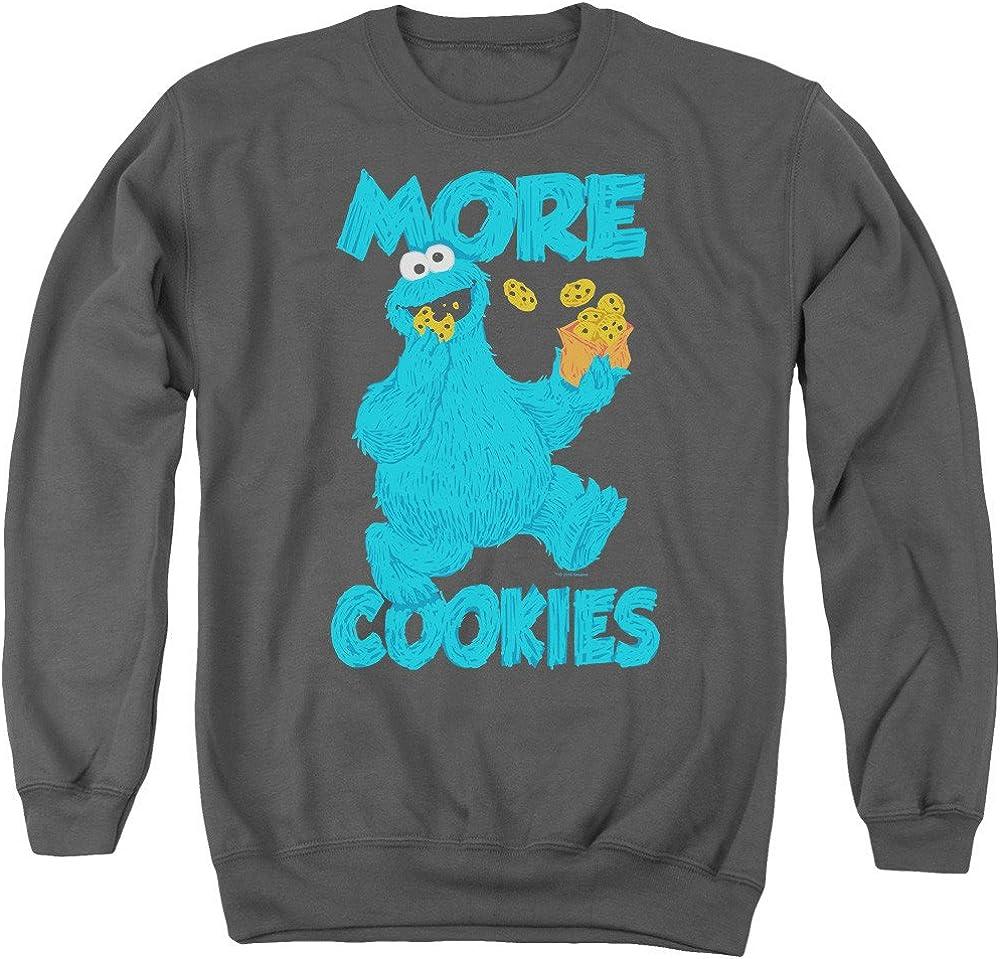 Sesame Street More Cookies Adult Crewneck Sweatshirt