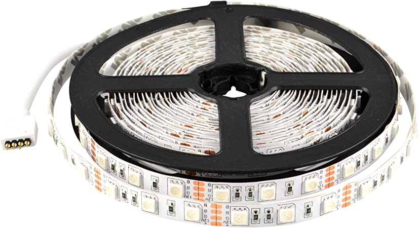 16ft Boat Accent Warm White 2835 SMD Waterproof 300 LED Strip Flexible Light 12V