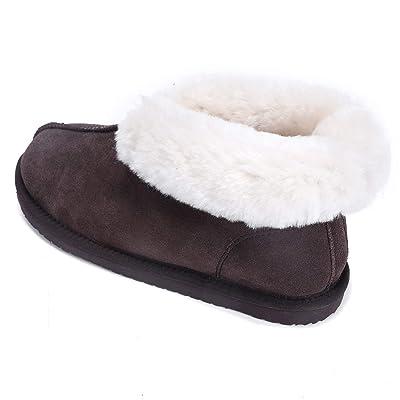Lamb Women Outdoor Slippers Genuine Leather Australian Sheepskin   Slippers