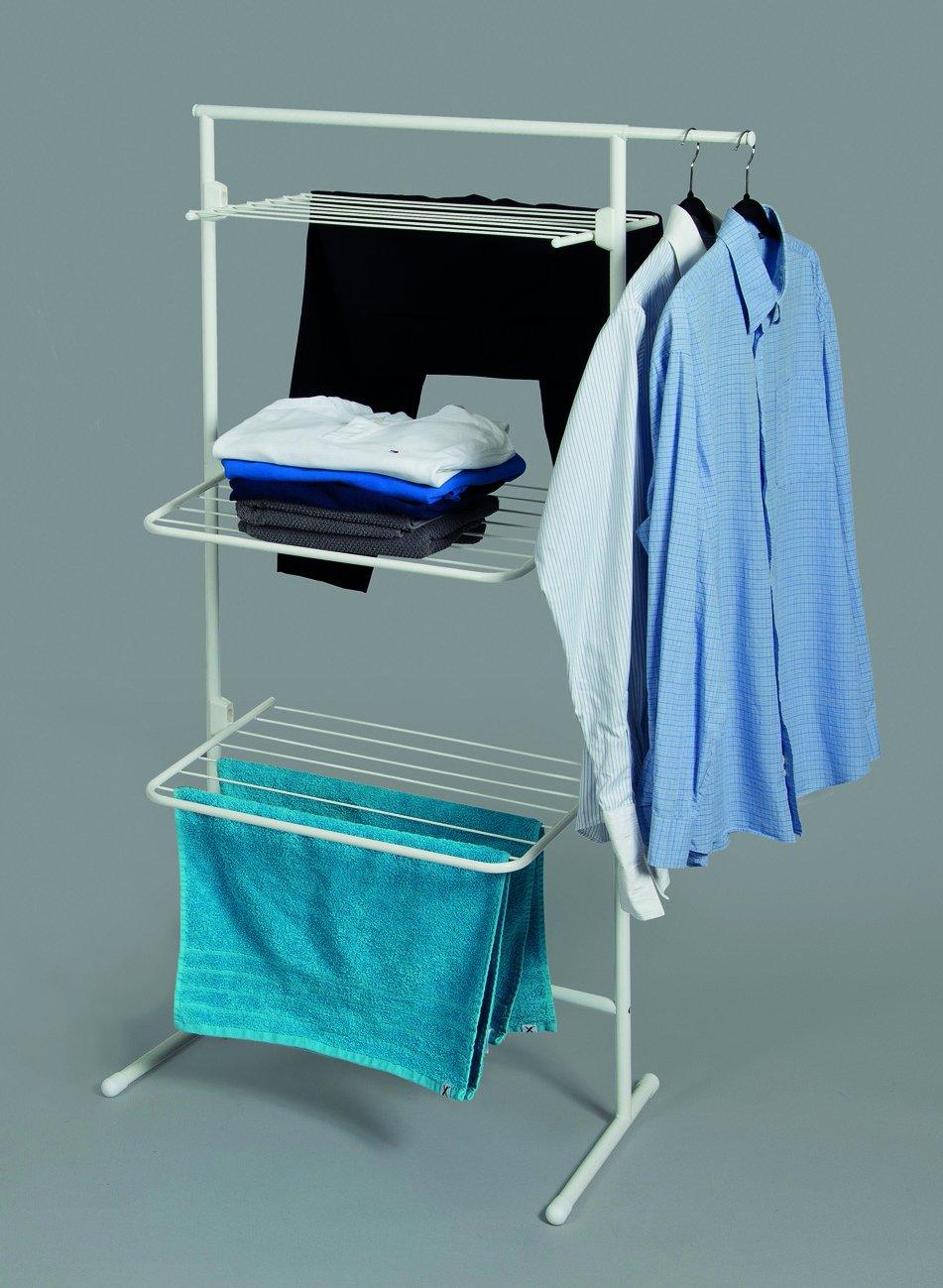 Rörets Wäscheständer schwedisches Design 0113-027 flexibler Turmwäscheständer für kleinen Wohnraum Turm Modell Triple
