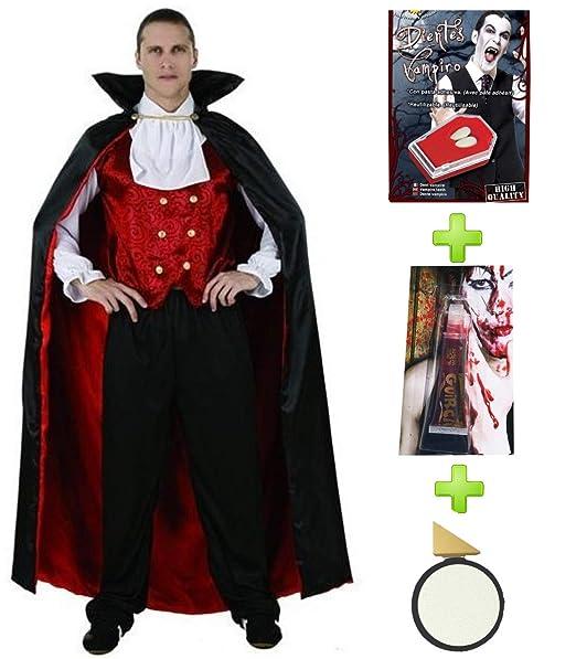 Disfraz de Vampiro con set cacterizacion: Amazon.es: Ropa y accesorios