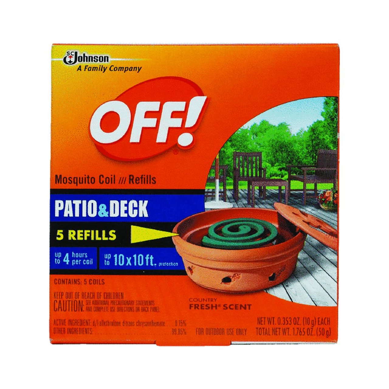 Amazon.com : S C Johnson OFF Country Fresh Scent Mosquito Coil Refill, 6  Refills (net Wt. 2.118 Oz ) : Insect Repelling Products : Garden U0026 Outdoor
