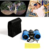 Kid Binoculars--Scotamalone Shock Proof Toy Binoculars Set - Bird Watching - Educational Learning - Hunting - Hiking - Birthday Presents - Gifts for Children - Outdoor Play