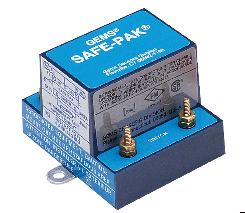 Gems Sensors 22445 Intrinsically Safe-Pak Relay, 95 to 135 VAC Voltage, 5A Current