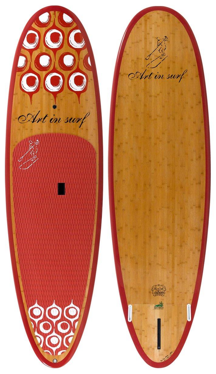 Art in Surf Da Fun Paddle Board, 10' x 33'' x 5'' /180 L, Red by Art in Surf (Image #1)
