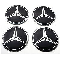 Satz von 4 Rad mitte kappen aufkleber 60 mm selbstklebendes gewölbt Emblem MercedesBenz radkappen felgenkappen