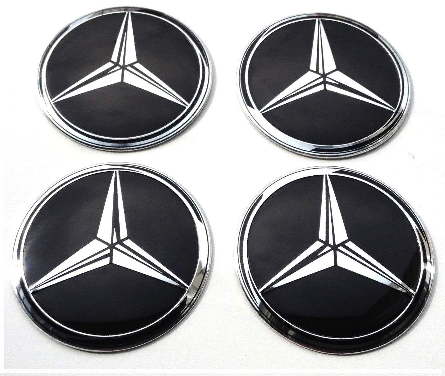 para tapas tapacubos MercedesBenz autoadhesivas Conjunto de 4 x 60mm pegatinas de rueda