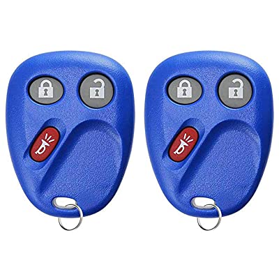 For 03-07 Cadillac Chevy GMC Hummer Pontiac Saturn Keyless Entry Remote Key Fob Navy 3btn 21997127 LHJ011-2 PACK: Automotive