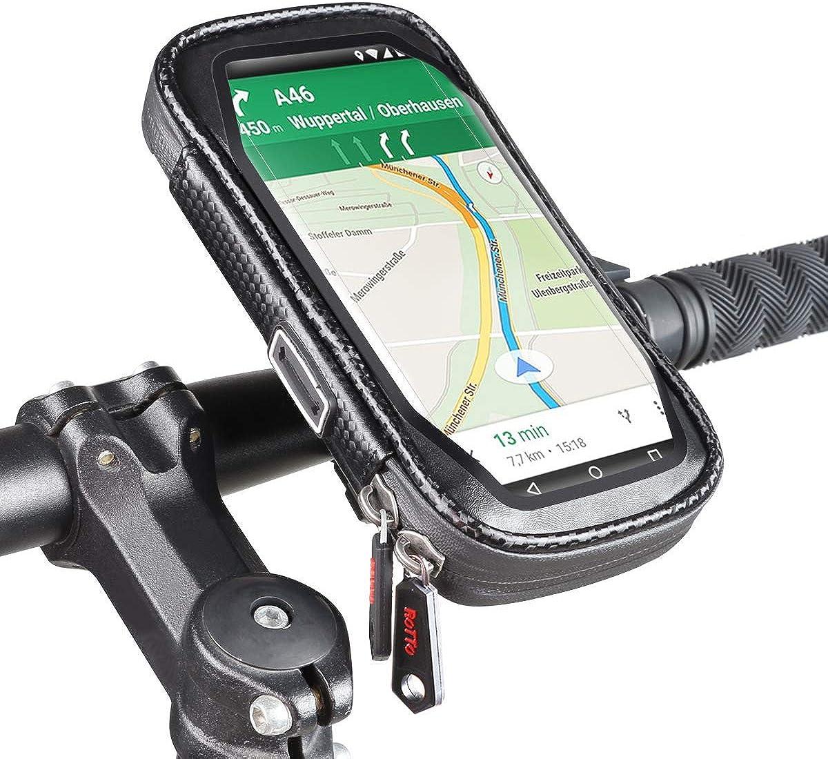 Rotto Handyhalterung Fahrrad Handyhalter Handytasche Wasserdicht Anti Shake 360 Drehung Bekleidung