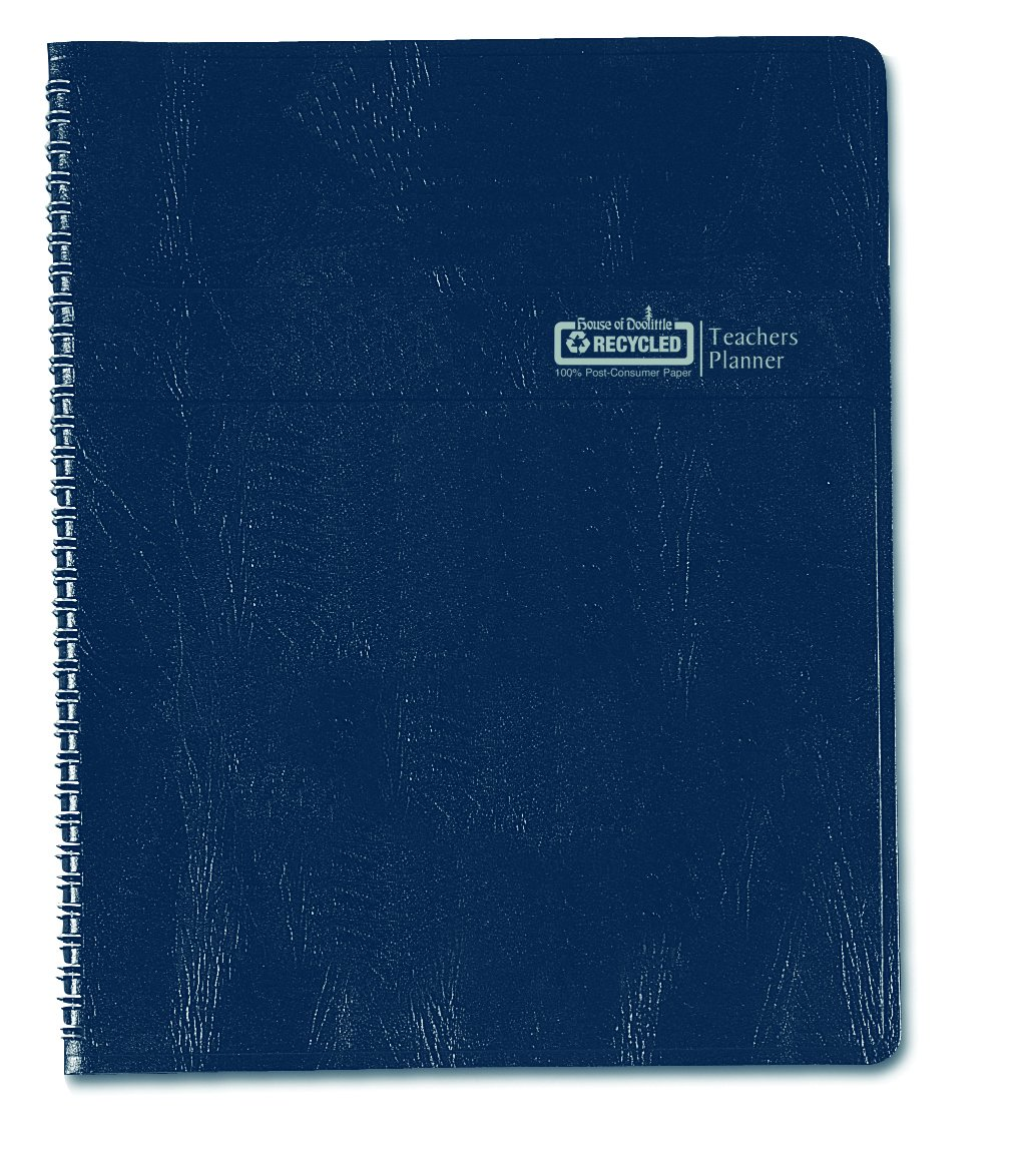 House of Doolittle Teachers Planner with Seating Chart, 7 Periods, and Records, 8.5 X 11 Inches Blue Leatherette (HOD50907) House of Doolittle.com