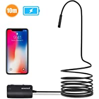 Depstech 1200P Semi-rigid Wireless Endoscope, 2.0 MP HD WiFi Borescope Inspection Camera,16 inch Focal Distance & 2200mAh Battery Snake Camera for Android & IOS Smartphone Tablet - Black 33FT