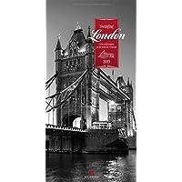 Swinging London 2019, Wandkalender in Schwarz-Weiß im Hochformat (33x66 cm) - Städtekalender / Literaturkalender mit Zitaten mit Monatskalendarium (Literarische Reihe)