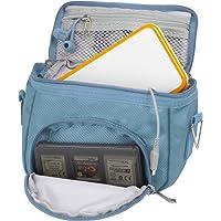 Orzly Travel Bag for Nintendo DS Consoles (Bolsa de Viaje para Consola Juegos y Accessarios) - Adapta TODOS Los Versiones de DS con Pantalla Plegable (Por ejemplo: DS / 3DS / 3DS XL / DS Lite / DSi / New 3DS / New 3DS XL / 2DS XL / etc pero no 2DS Modelo Version) - Bolso incluye: Correa para el Hombro Ajustable + Llevan la Manija + Fijación a un Cinturón - AZUL