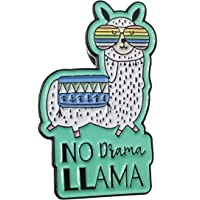 No Drama Llama Enamel Lapel Pin - Cute 1.2 inch for backpacks, hats, jackets etc.