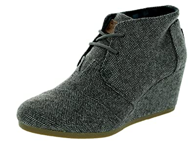 96ff1128e92 Image Unavailable. Image not available for. Colour  TOMS Women s Desert  Wedge Herringbone Boot ...