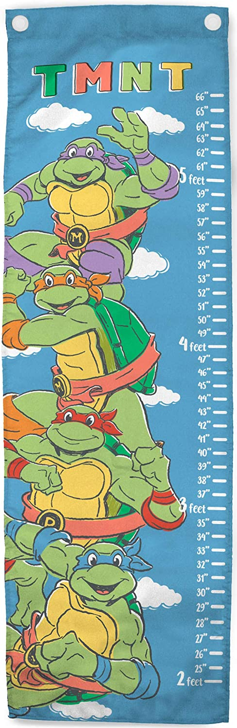 Jay Franco Nickelodeon Teenage Mutant Ninja Turtles Field Trip Growth Chart – Kids Removeable Wall Décor (Official Nickelodeon Product)