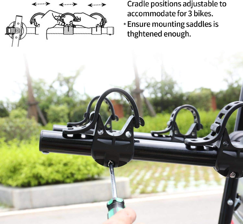 Bicycle Rack fits Most Sedans//Hatchbacks//Minivans and SUVs Leadpro 2-Bike Trunk Mounted Bike Rack