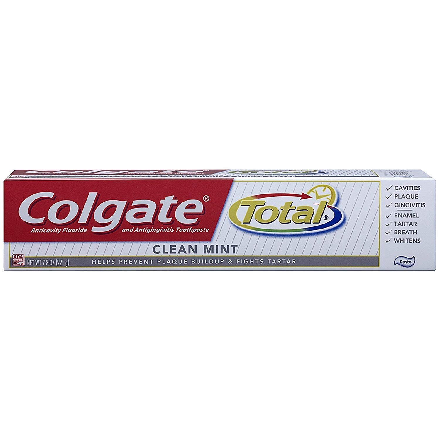 Colgate Total Fluoride Toothpaste Cool Mint, 1.9 oz (Pack of 9) Travel Size TSA Approved