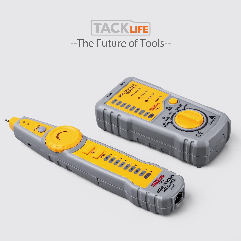 Localizador Comprobador de Cables LAN RJ45 o de Teléfonos RJ11 Tacklife CT01 por solo 14,99€ con el código RK9M3IGO