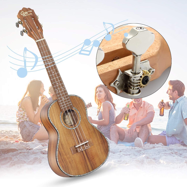 Ukelele,Hricane Ukeleles Concierto 23 Pulgadas Instrumento de Koa ...