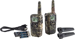 Midland X-TALKER 22 Channel FRS Walkie Talkie - Long Range Two-Way Radio, 38 Privacy Codes, NOAA Weather Alert (Mossy Oak Camo, Pair Pack)