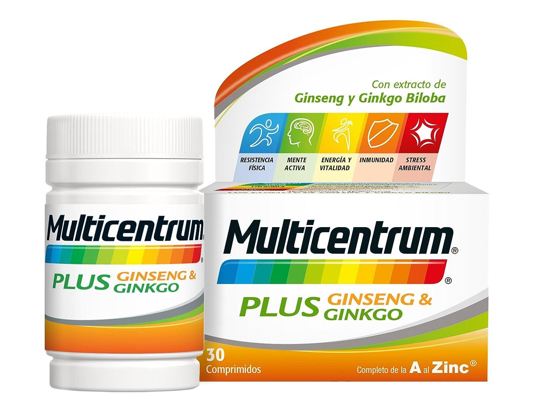 Multicentrum Plus Ginseng & Ginkgo - 30 comprimidos: Amazon.es: Salud y cuidado personal